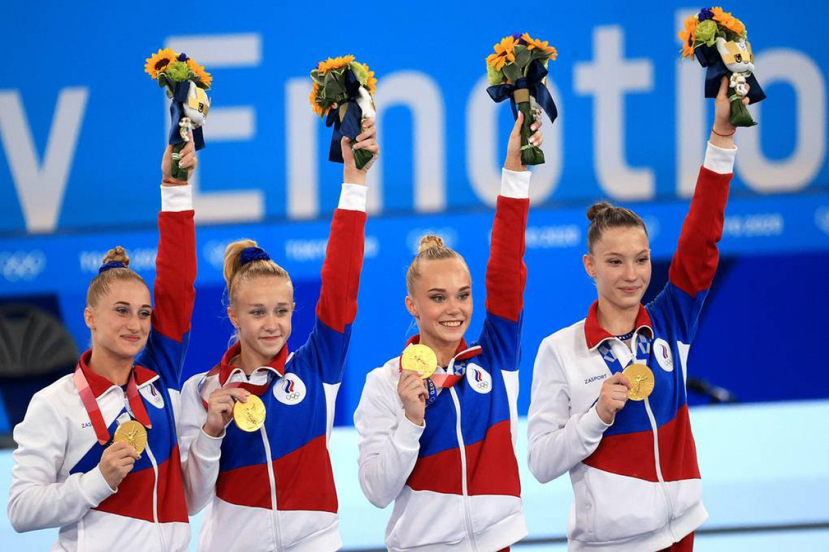 Russia wins 2020 Olympics gold in women's artistic gymnastics team event