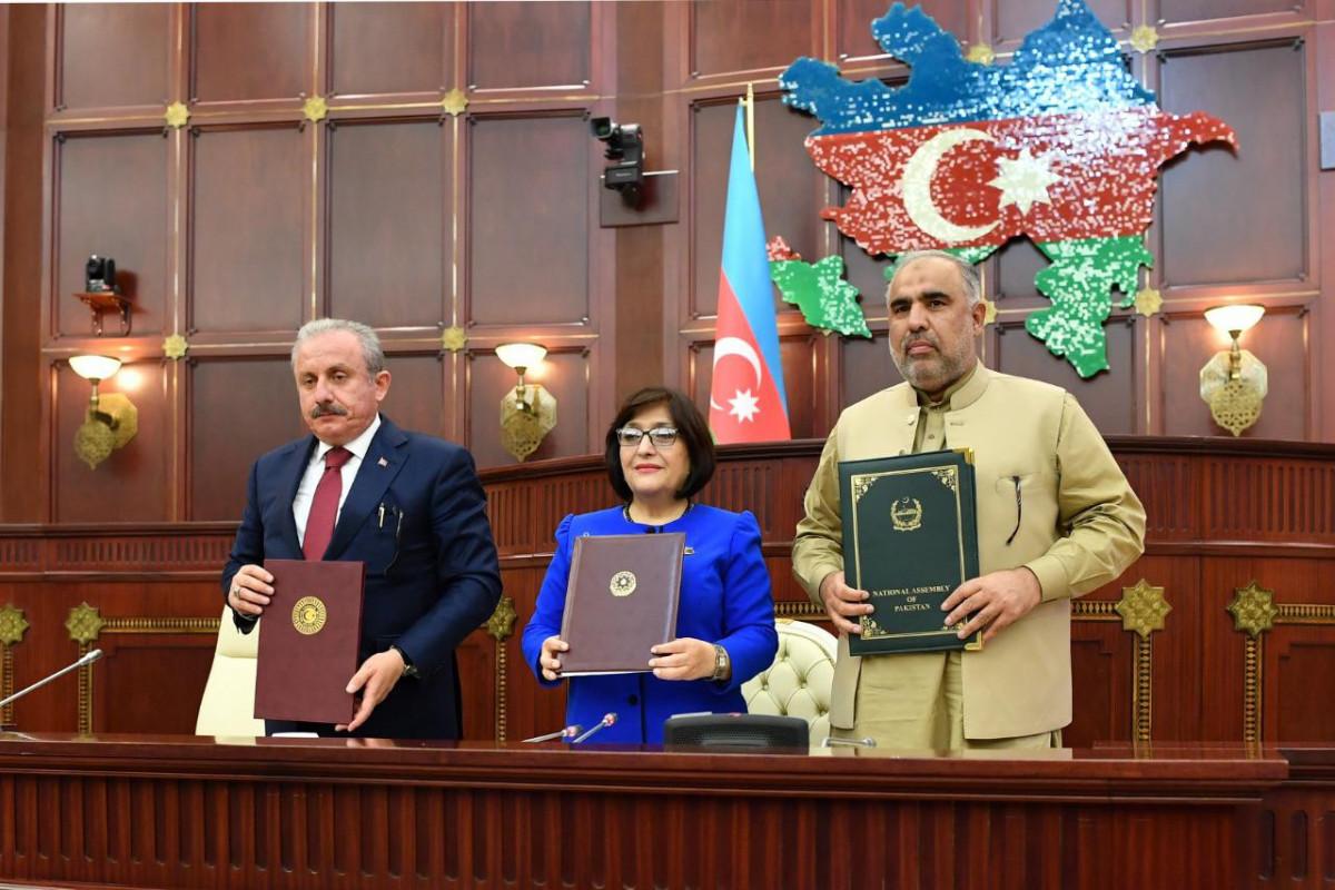 Azərbaycan, Türkiyə və Pakistan parlament sədrlərinin İkinci Üçtərəfli görüşü İslamabadda keçiriləcək