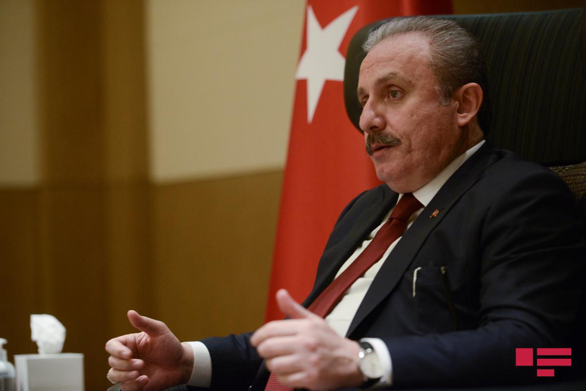 """Mustafa Şentop: """"Parlamentlər səviyyəsində sistemli olaraq islamafobiyaya qarşı mübarizə aparacağıq"""""""
