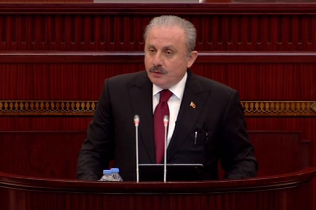 """TBMM sədri: """"Şuşa Bəyannaməsində ölkələrin parlamentləri arasında da əlaqələrin inkişaf etdirilməsi yer almışdı"""""""