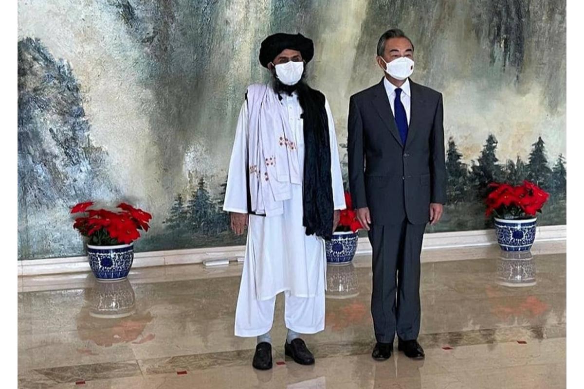 """""""Taliban"""" nümayəndə heyəti Çinin xarici işlər naziri ilə görüşüb"""