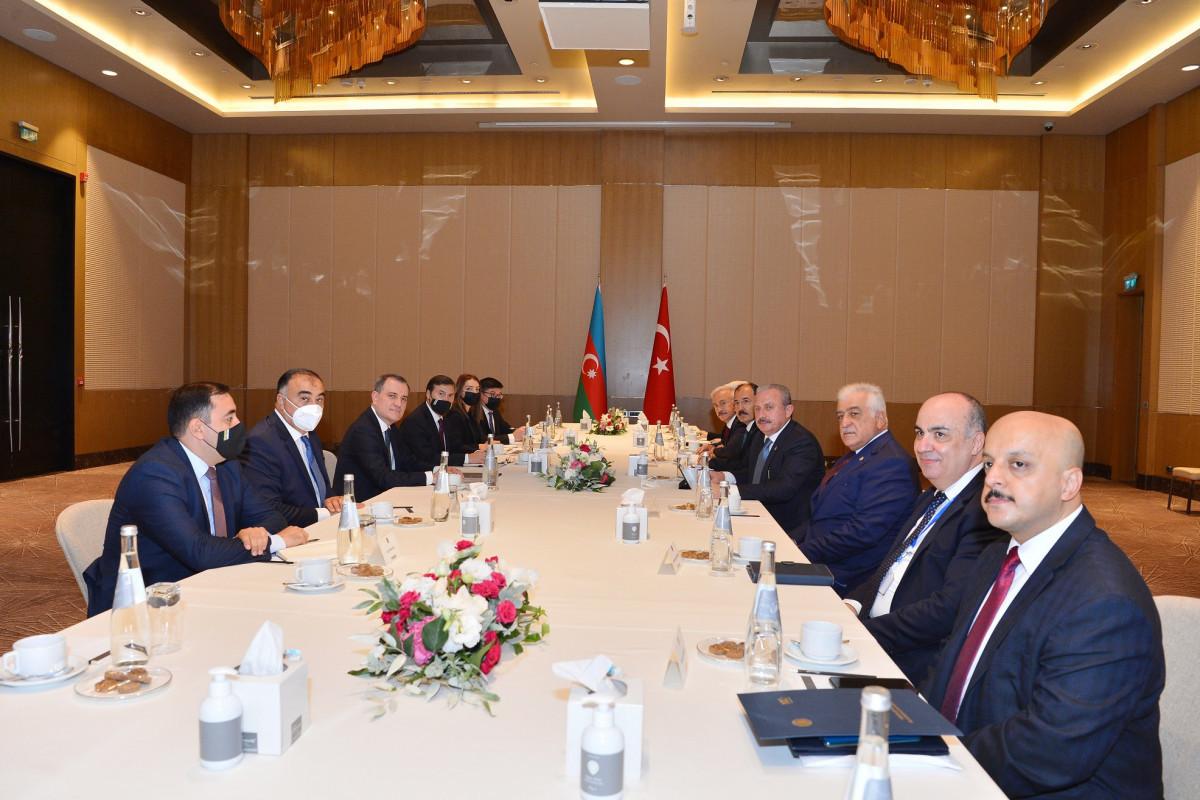 Azerbaijani FM meets with Mustafa Shentop