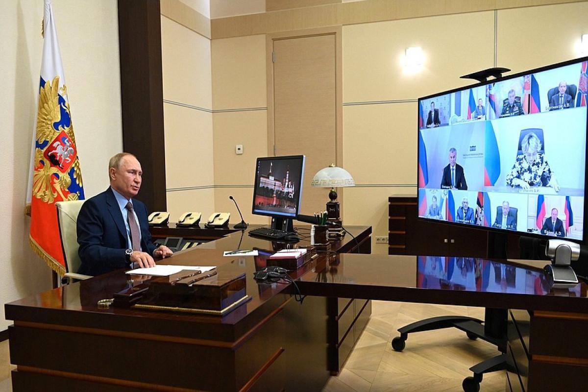 Путин обсудил c Совбезом РФ ситуацию на армяно-азербайджанской границе
