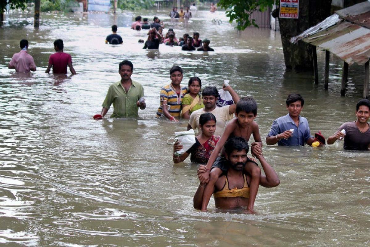 Hindistanın şimalında daşqınlar nəticəsində 16 nəfər ölüb