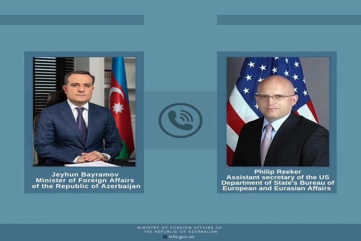 Джейхун Байрамов обсудил с представителем Госдепа США ситуацию на азербайджано-армянской границе
