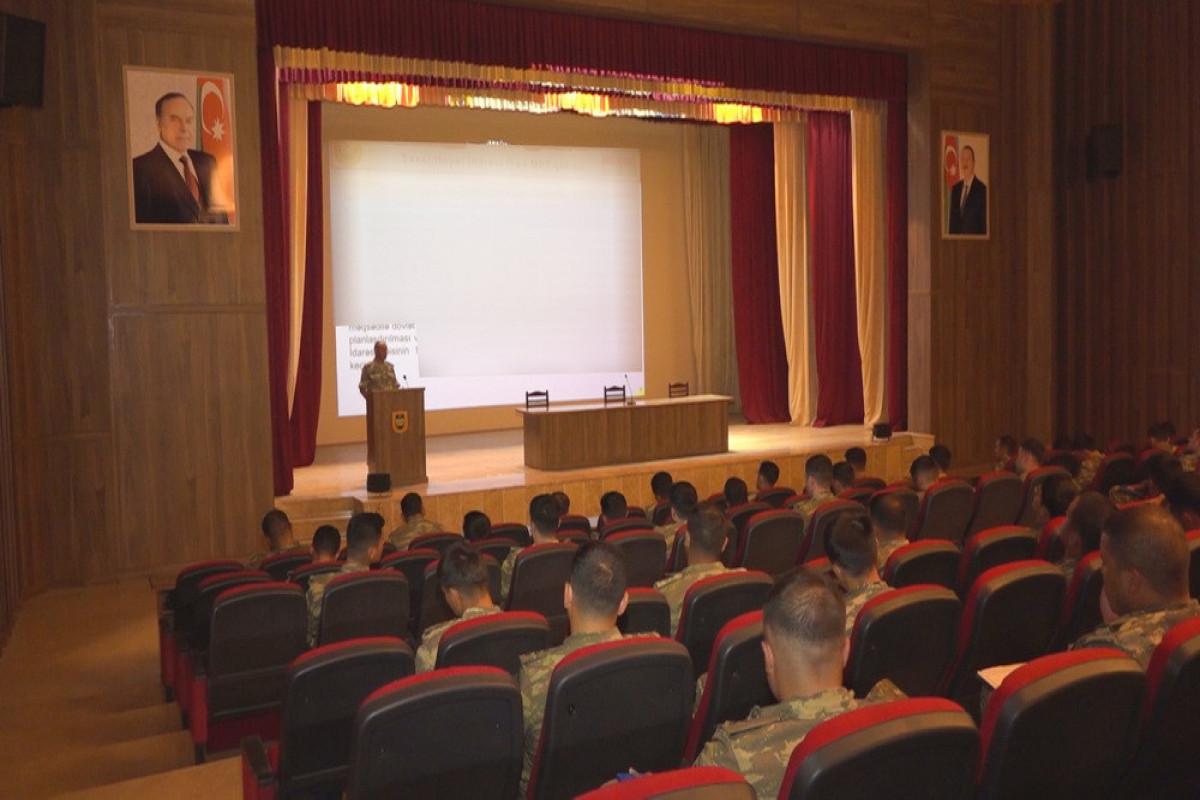 """Naxçıvan Qarnizonu Qoşunlarında toplantılar keçirilib - <span class=""""red_color"""">VİDEO"""