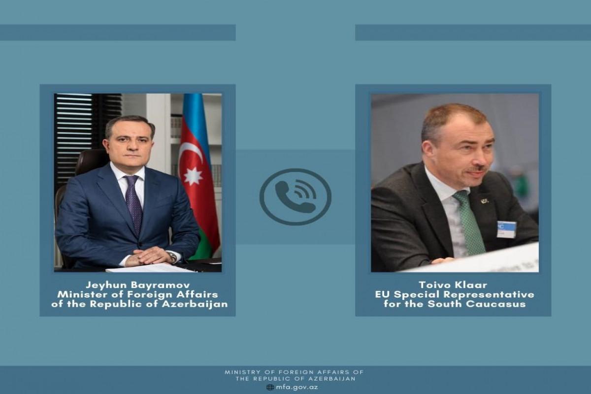 Azerbaijani FM and EU Special Representative hold phone conversation