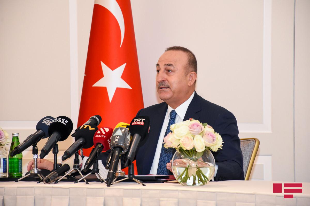 """Mövlud Cavuşoğlu: """"Can Azərbaycanın dəstəyi və qardaşlığı bizə güc verir"""""""