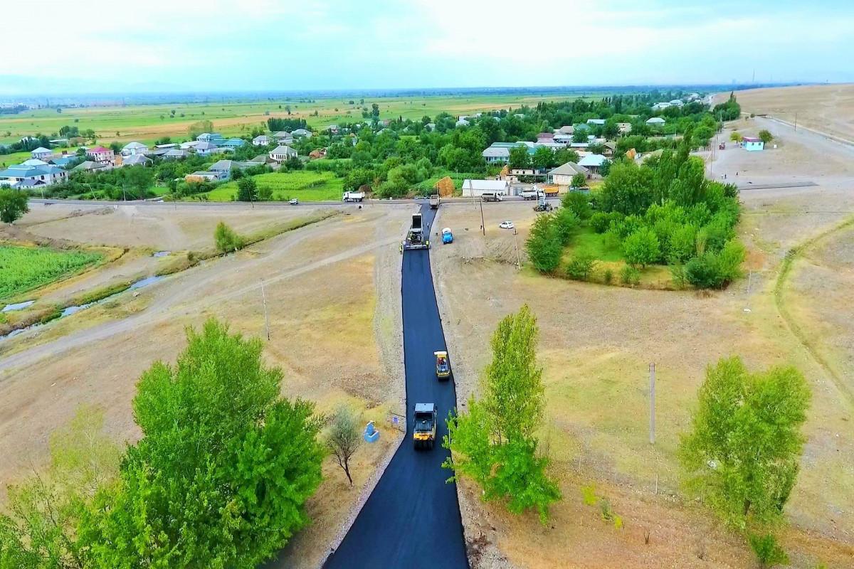 Böyük Kəsik-Ağgöl avtomobil yolu yenidən qurulur – FOTO