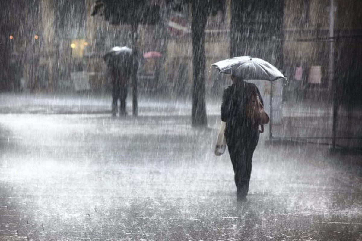 Dünən rayonlarda yağış yağıb, bəzi yerlərdə intensiv olub