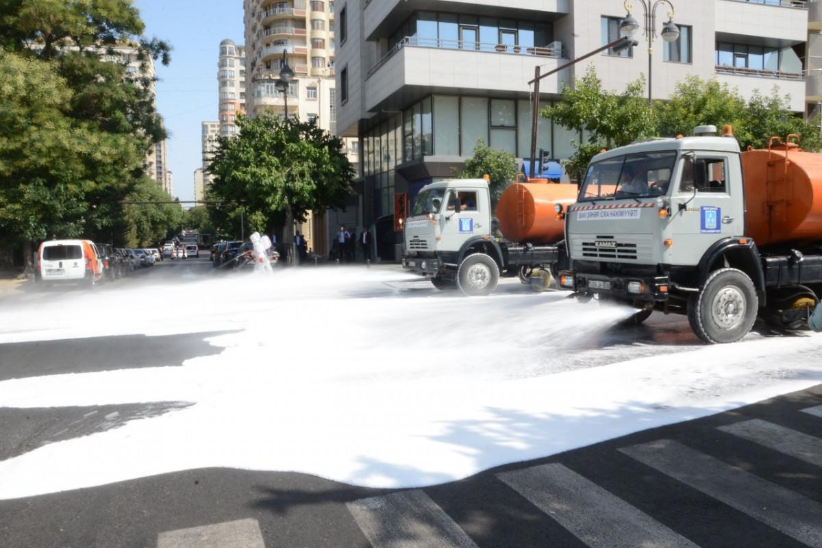 В Баку продезинфицированы 546 улиц