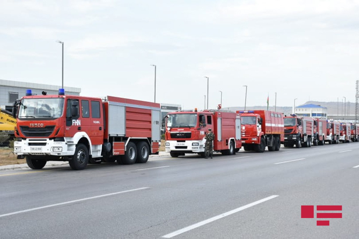 Очередная группа пожарно-спасательных сил МЧС Азербайджана отправилась в Турцию-ФОТО -ВИДЕО