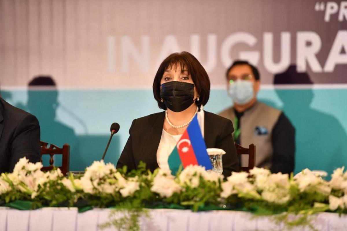 Chair of Azerbaijani Milli Majlis Sahiba Gafarova  invited ECO members to participate in the restoration work in Karabakh