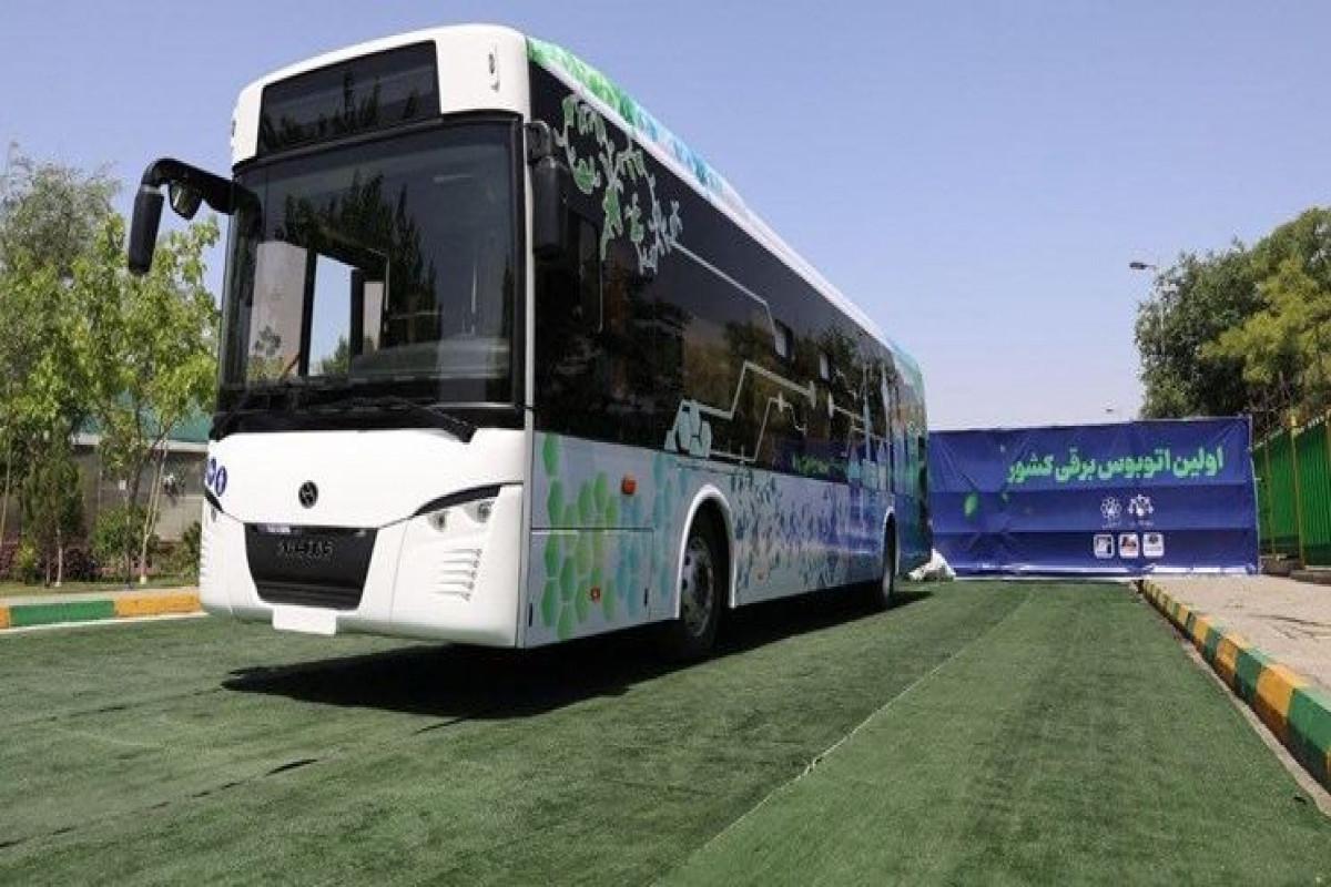İranın istehsal etdiyi ilk elektrobus istifadəyə verilib