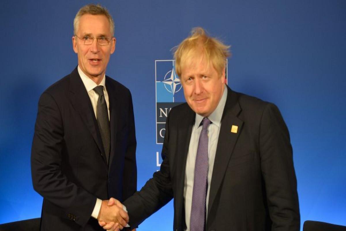 Boris Johnson met NATO Secretary General Jens Stoltenberg at Downing Street