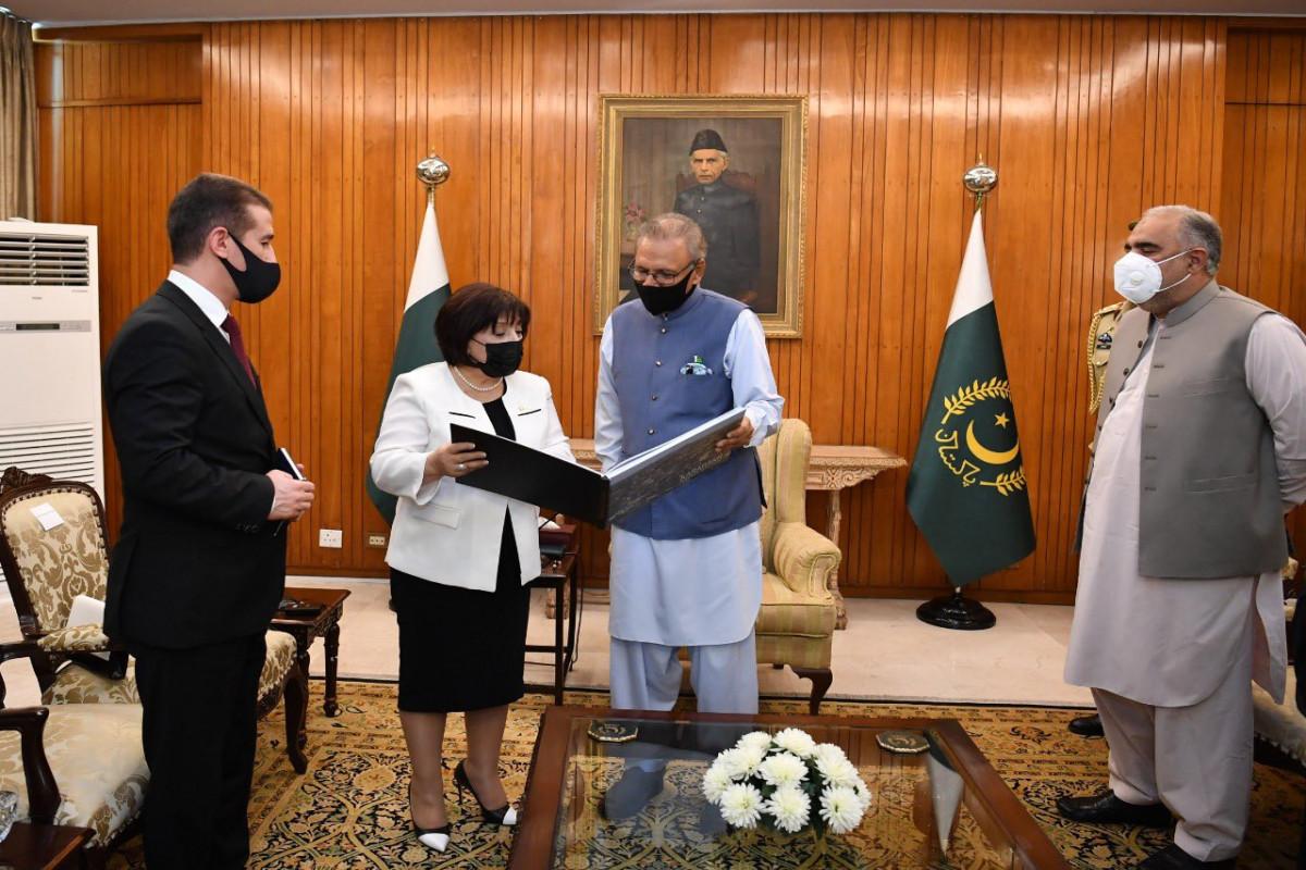 Pakistani President receives Sahiba Gafarova