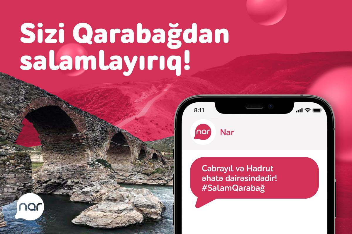 """""""Nar"""" Hadrut və Cəbrayılda baza stansiyalarını işə salıb"""