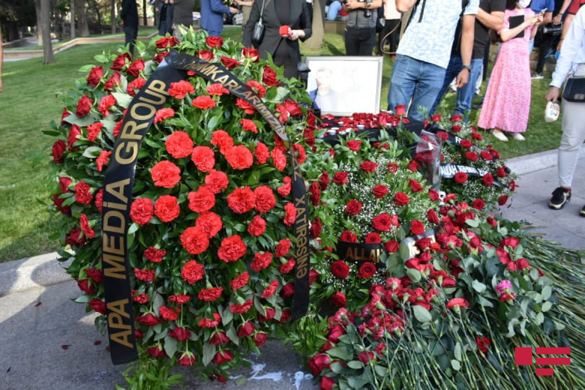 """Employees of APA Media Group commemorated media workers, martyred in Kalbajar-<span class=""""red_color"""">PHOTO"""