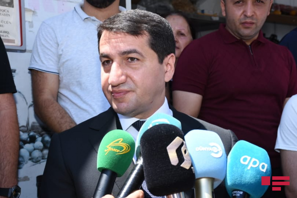 """Hikmat Hajiyev: """"During the war, under the leadership of the Supreme Commander-in-Chief, we saw the bravery of the media shoulder to shoulder with Azerbaijani soldiers"""