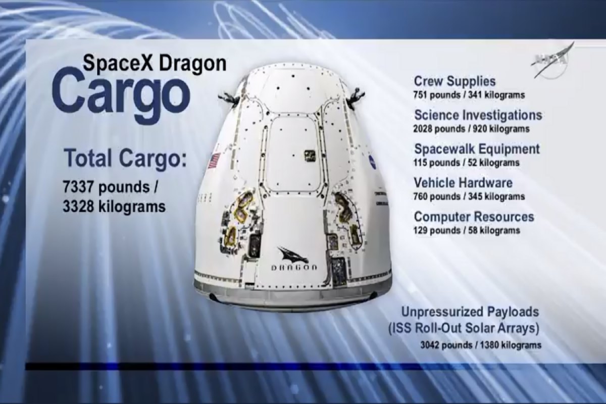 SpaceX cargo Dragon docks to space station