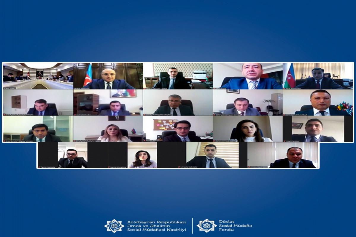 DSMF ilə Türkiyənin Sosial Təminat Agentliyi nümayəndələri arasında videokonfrans olub