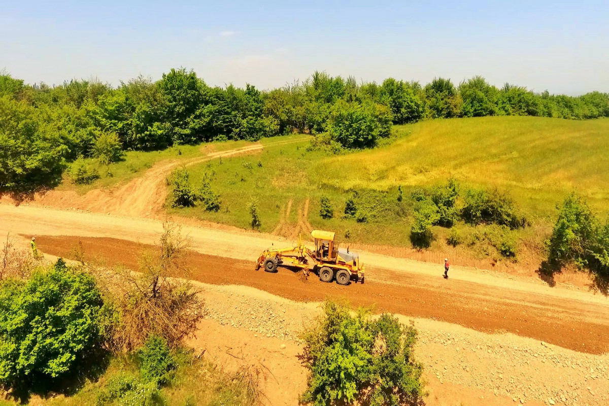 Qusar-Qayakənd-Avaran-Xürəl avtomobil yolu yenidən qurulur - <span class=