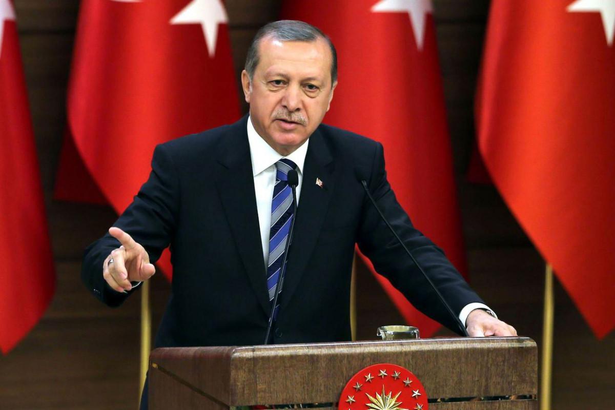 """Ərdoğan: """"Türkiyəyə böhtan atanlar arasında Avropadakı erməni terror təşkilatları da var"""""""