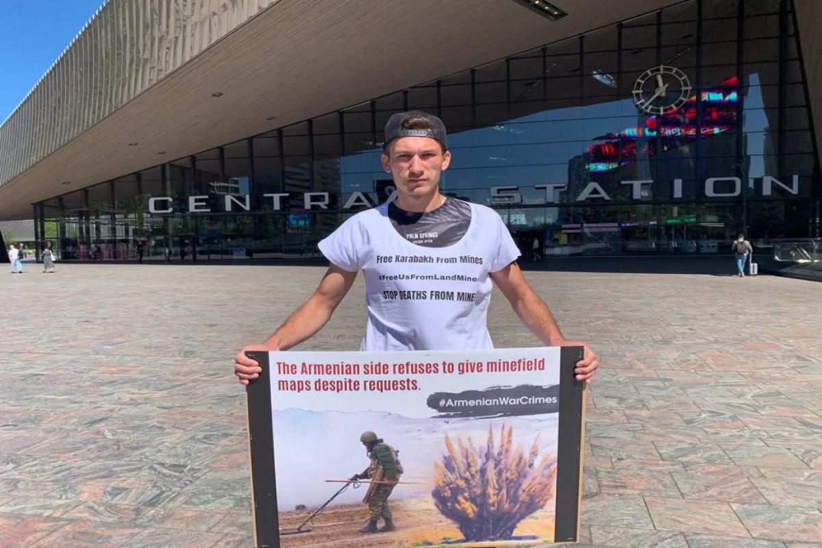 Niderlandın şəhərlərində Ermənistana qarşı etiraz aksiyası keçirilib