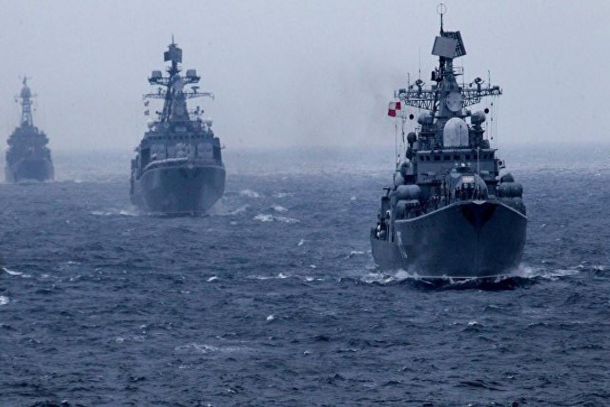 ВМФ России проводит учения в Тихом океане