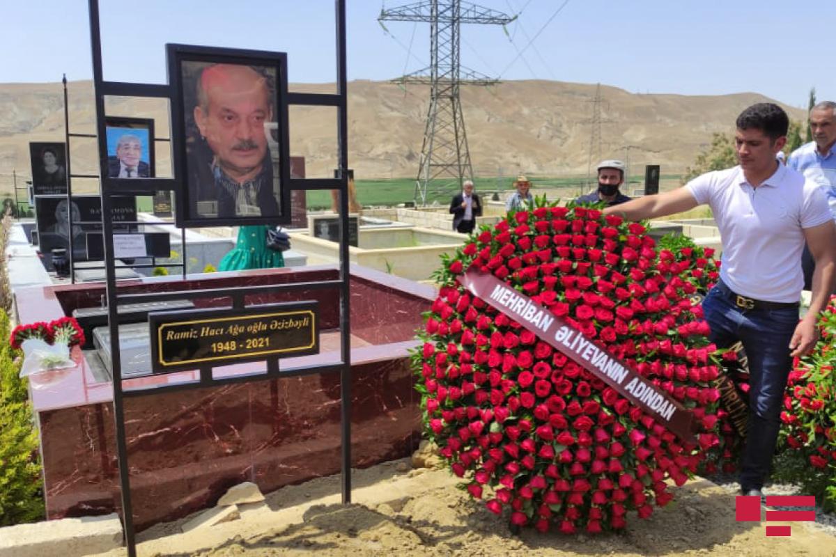 Мехрибан Алиева отправила венок на похороны Рамиза Азизбейли