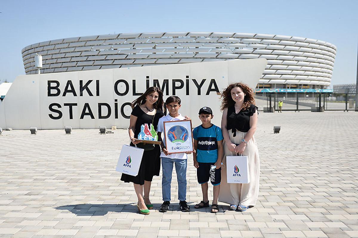 AFFA uşaqlara AVRO-2020-nin oyunlarına bilet hədiyyə edib - <span class=