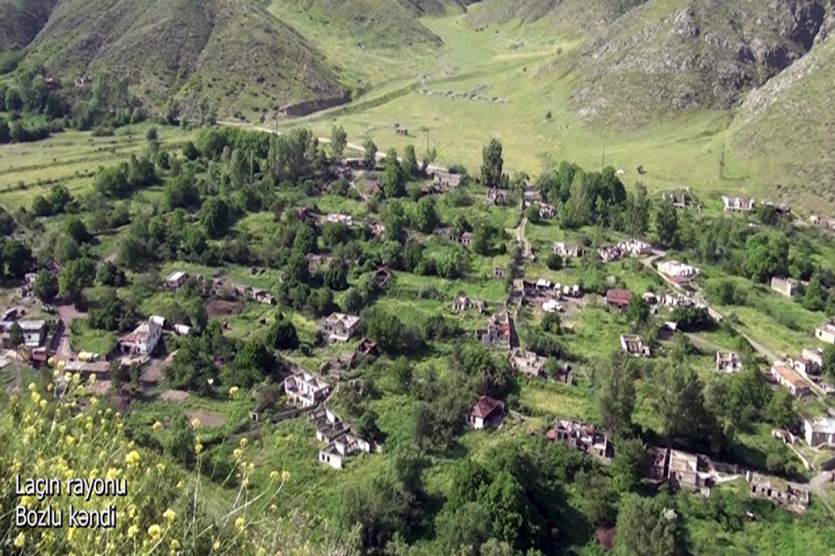 """Azerbaijani MoD releases video footage of the Bozlu village of the Lachin region-<span class=""""red_color"""">VIDEO</span>"""