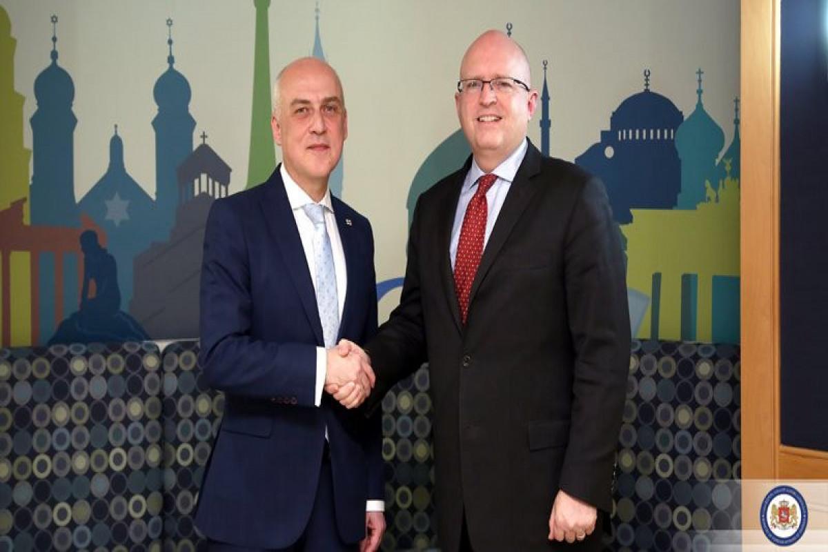 Филип Рикер обсудил с главой МИД Грузии вопросы безопасности на Южном Кавказе