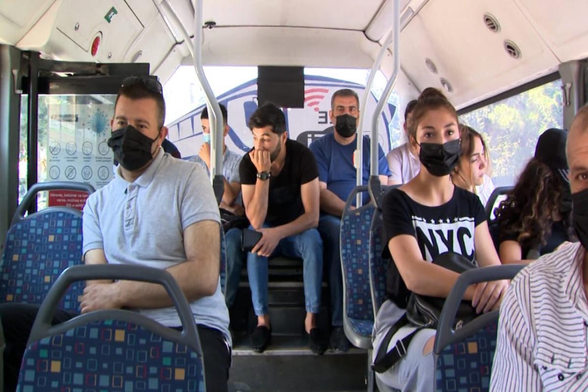 Sumqayıtda ictimai nəqliyyatda maskadan istifadə etməyənlərə qarşı reyd keçirilib - <span class=