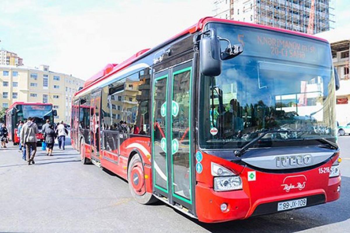 Объявлен график работы пассажирских автобусов в Баку в выходные дни