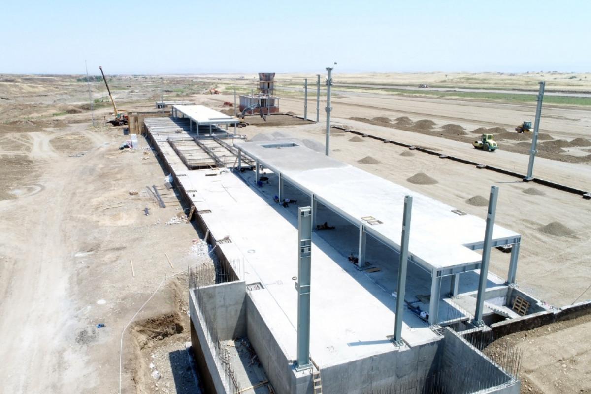 Azerbaijani President and First Lady viewed construction progress at Fuzuli International Airport