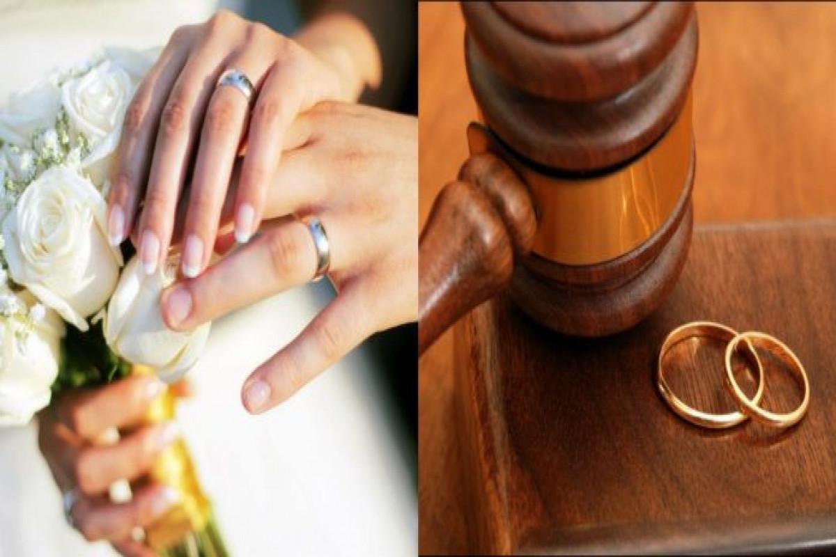 Bu il bağlanmış nikahların və boşanmaların sayı açıqlanıb
