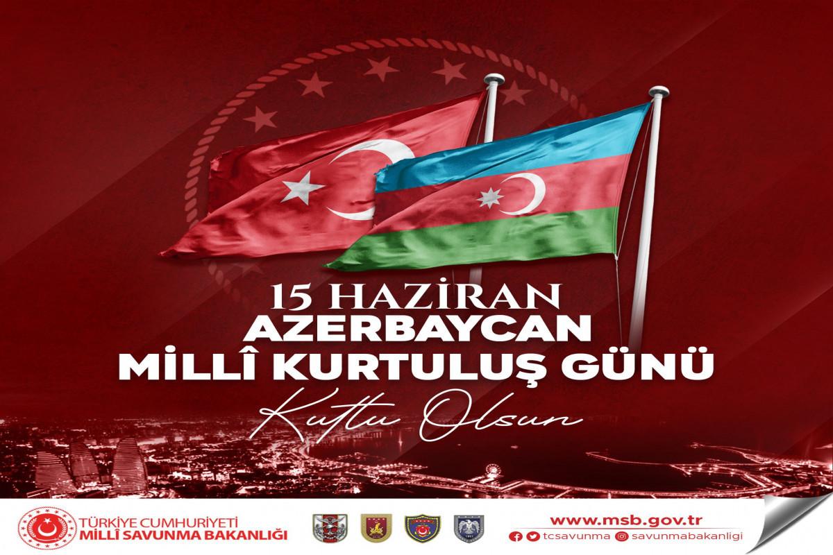 Turkish MoD congratulates Azerbaijani people on occasion of National Salvation Day