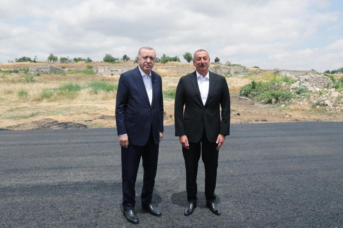 "Azerbaijani and Turkish Presidents visit to Shusha starts-<span class=""red_color"">LIVE"