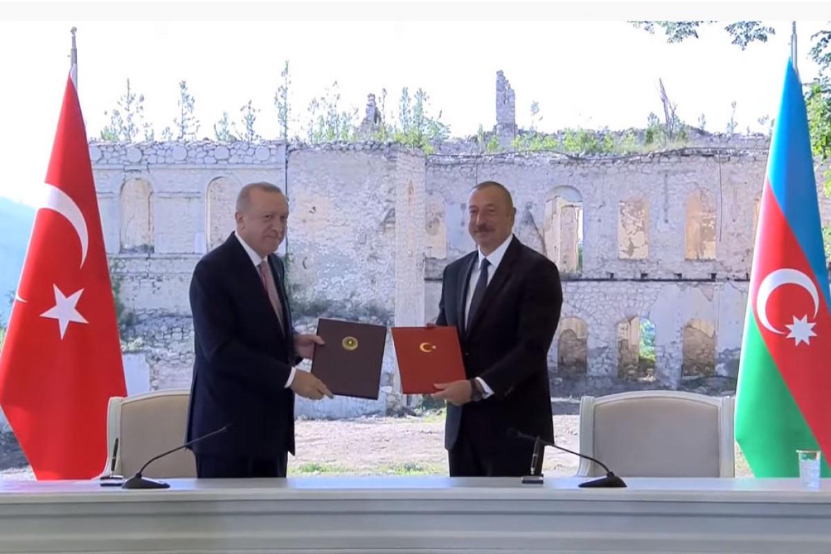 """Азербайджан и Турция подписали Шушинскую декларацию о союзничестве-<span class=""""red_color"""">ОБНОВЛЕНО"""