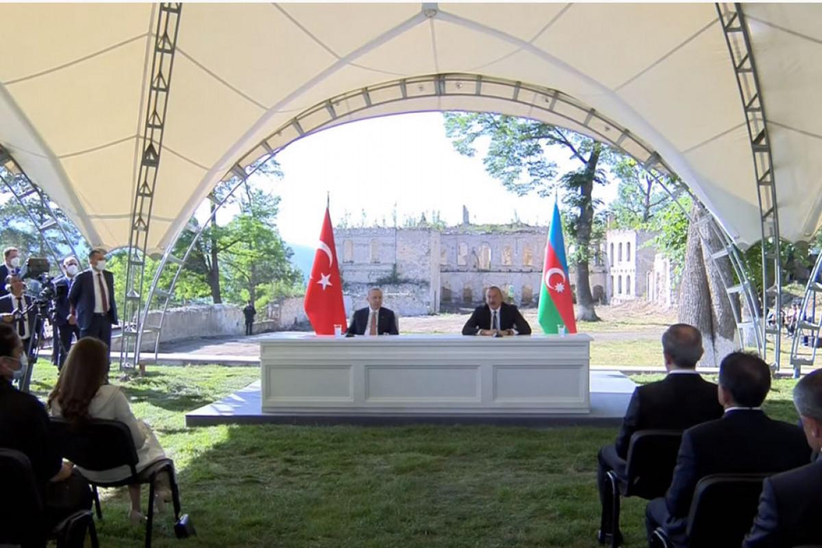 """Президенты Азербайджана и Турции выступили с совместными заявлениями для прессы-<span class=""""red_color"""">ВИДЕО-<span class=""""red_color"""">ОБНОВЛЕНО"""