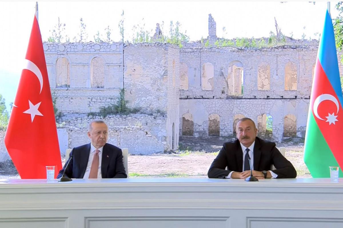 Президент Азербайджана: Заявления, сделанные сегодня в нашем древнем городе Шуше, отзовутся во всем мире