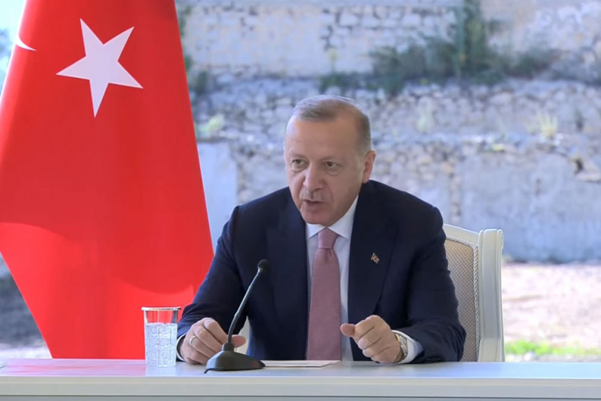 """Erdogan: """"Turkey provides any kind of support to Azerbaijan in process of reconstruction of Karabakh"""""""