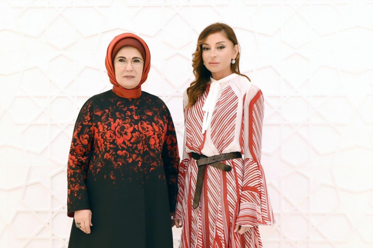 First ladies of Azerbaijan, and Turkey meet in Shusha