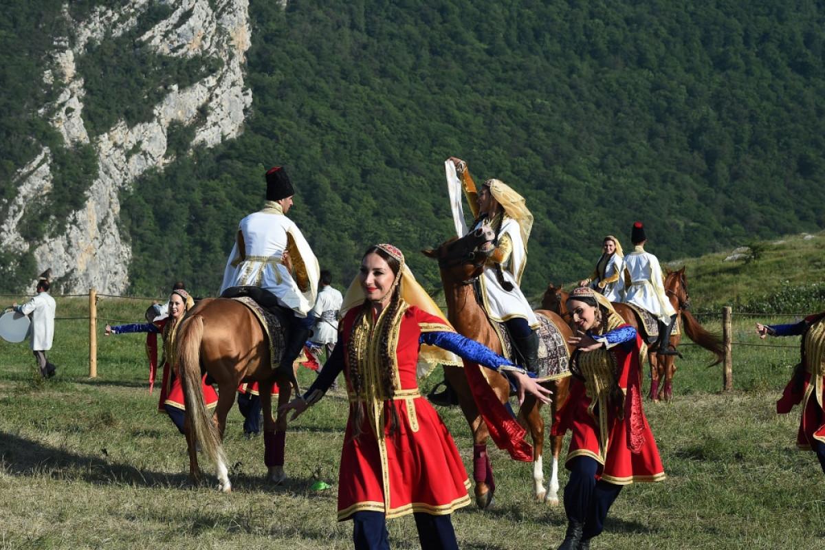 """Musical heritage and Karabakh horses on Jidir Duzu plain"" composition organized by Heydar Aliyev Foundation was presented in Shusha"