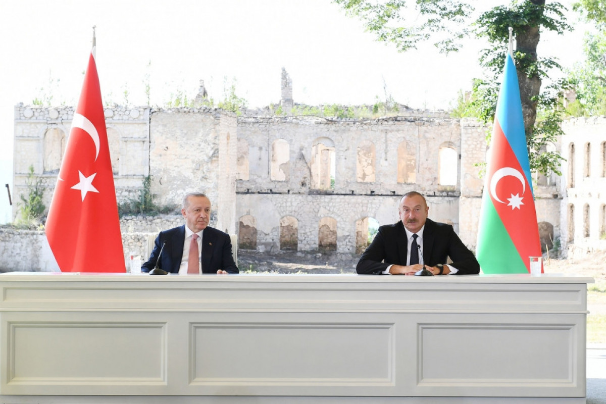 """Azerbaijani, Turkish presidents made press statements-<span class=""""red_color"""">UPDATED"""