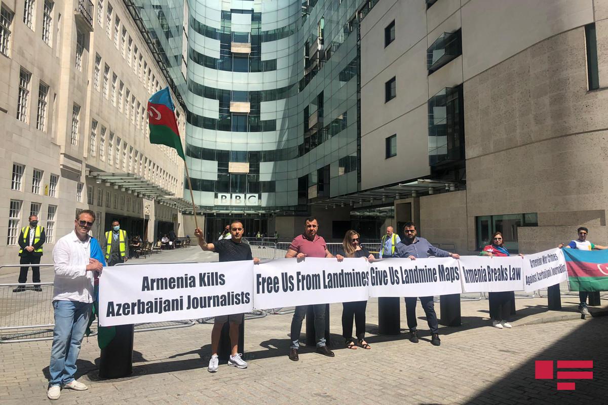 Rally held in front of BBC Head Quarters in London regarding Armenia