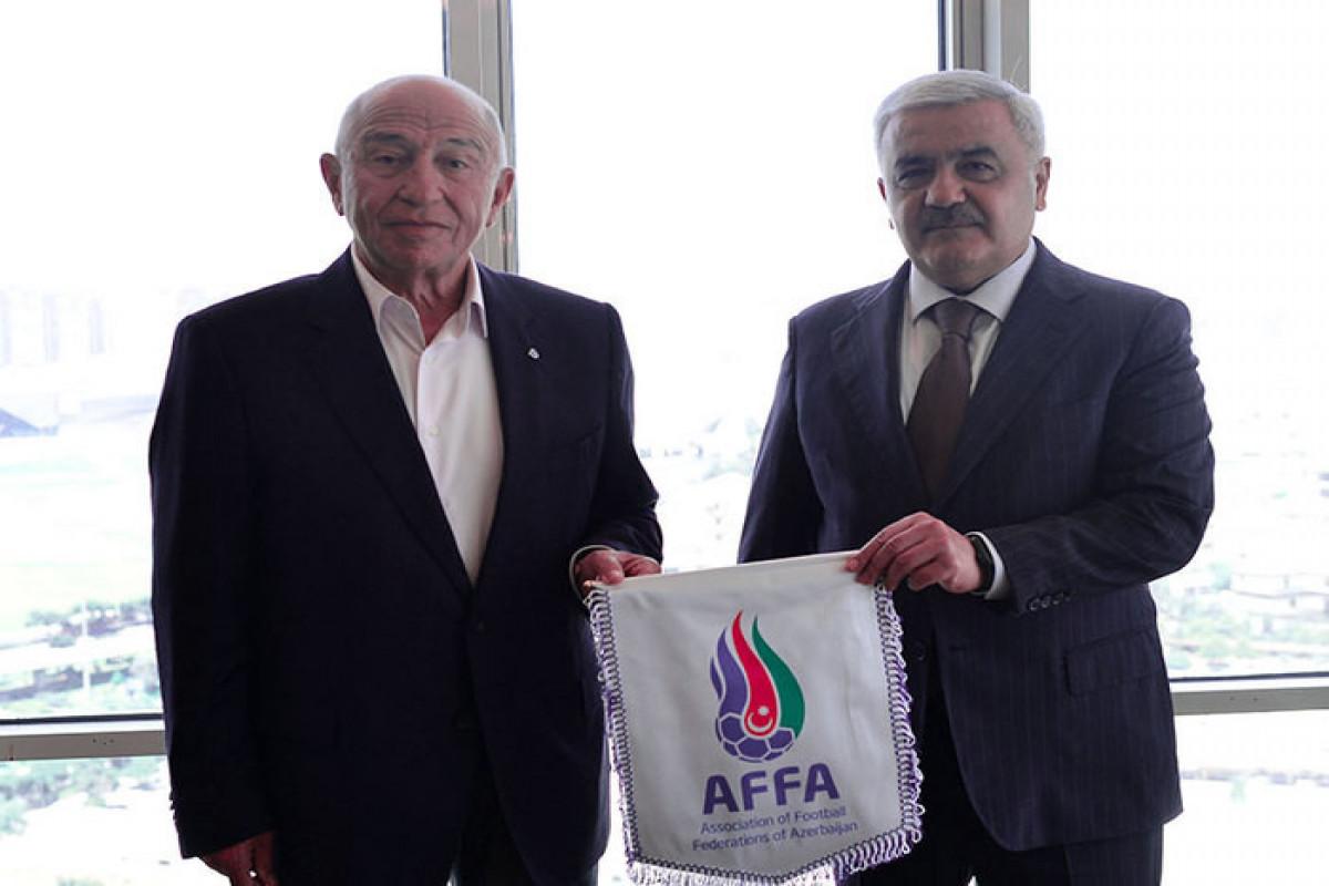 Rövnəq Abdullayev TFF prezidenti ilə görüşüb