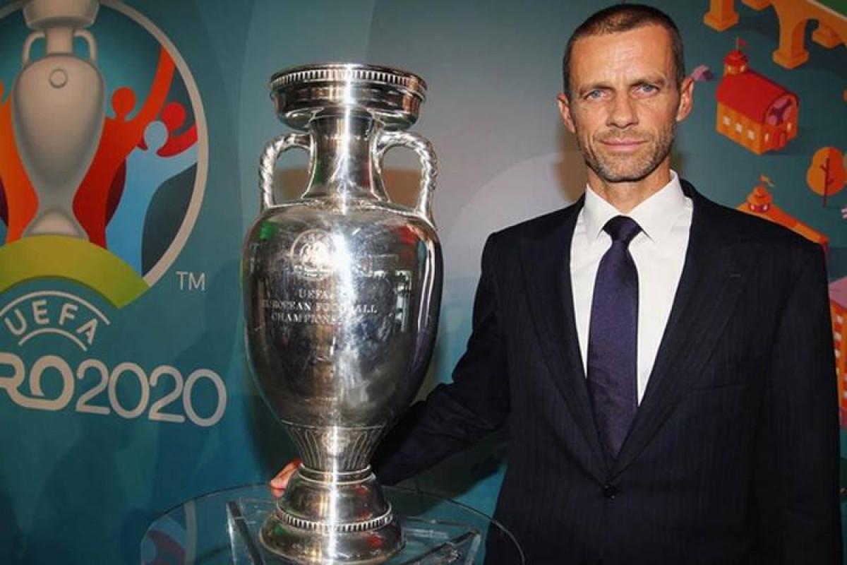 UEFA prezidenti Türkiyə - Uels oyununu izləmək üçün Bakıya gəlib