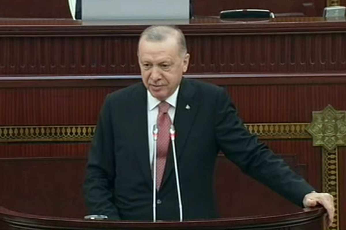 """Turkish President Erdogan delivered speech at Azerbaijani parliament-<span class=""""red_color"""">UPDATED</span>"""